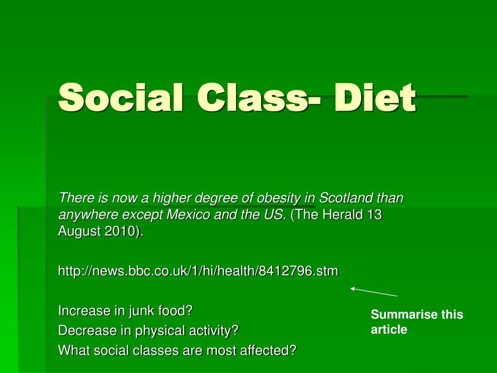 Social Class- Diet