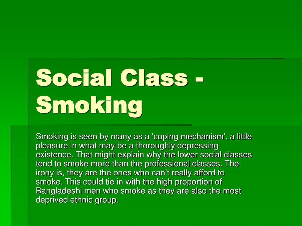 Social Class - Smoking