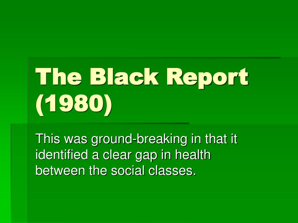 The Black Report (1980)