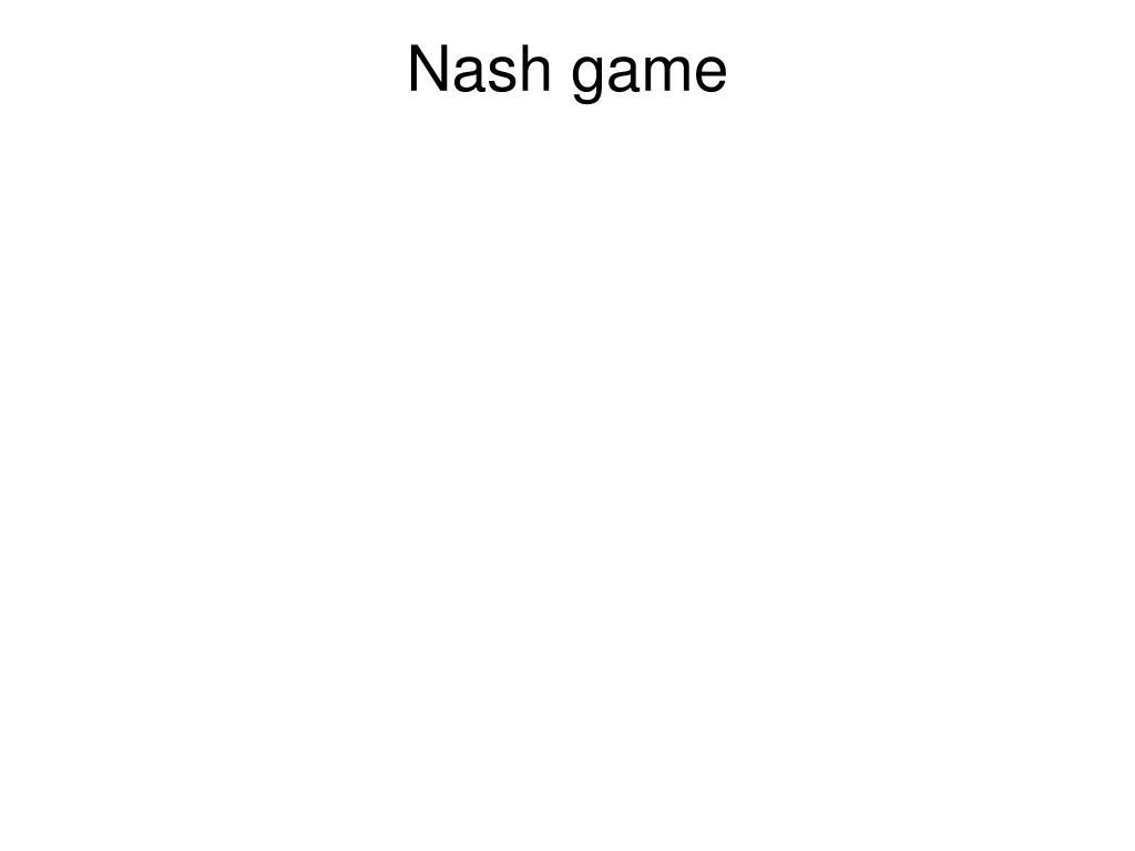 Nash game