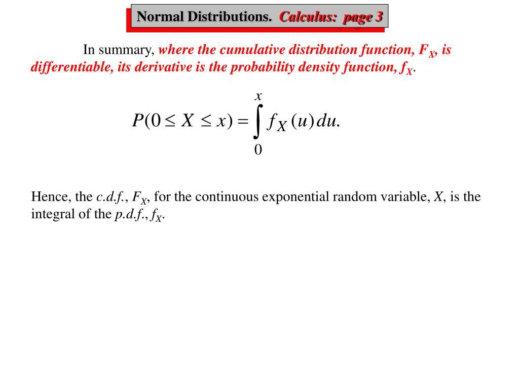 Normal, Calculus