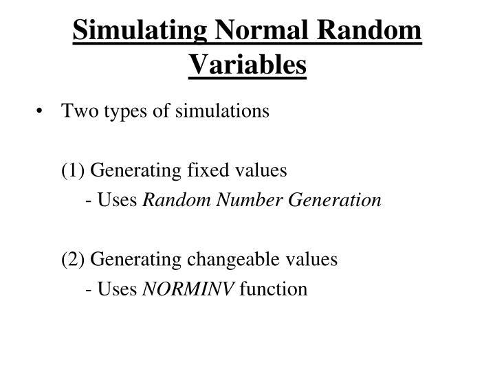 Simulating normal random variables2