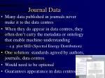 journal data