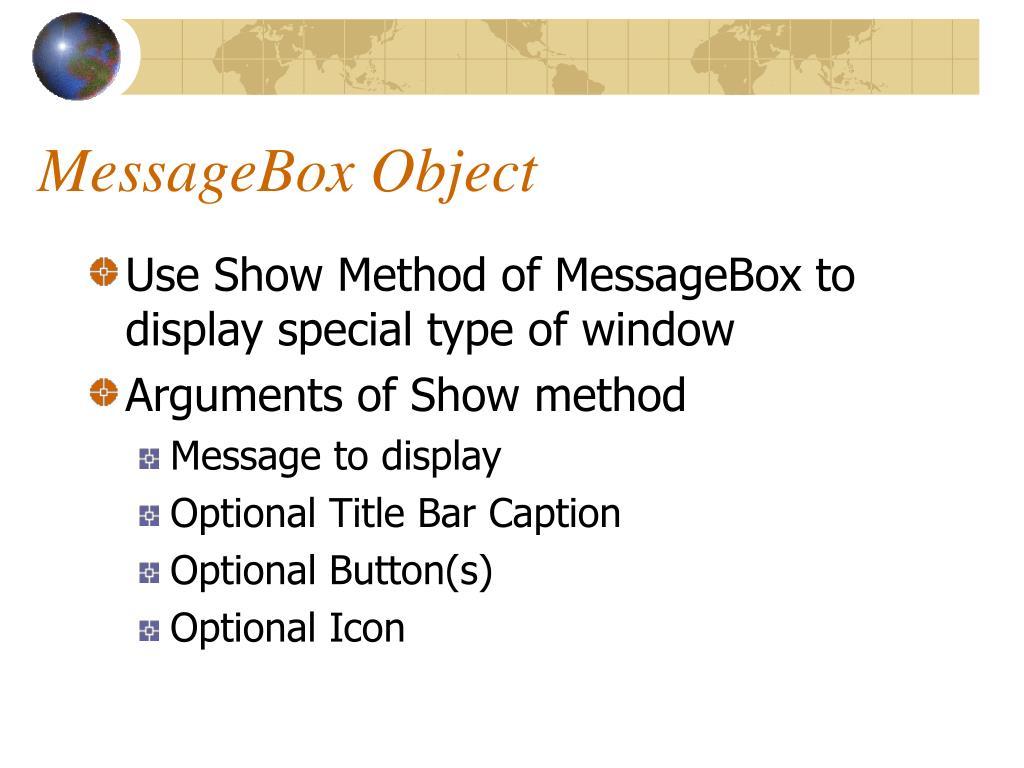 MessageBox Object
