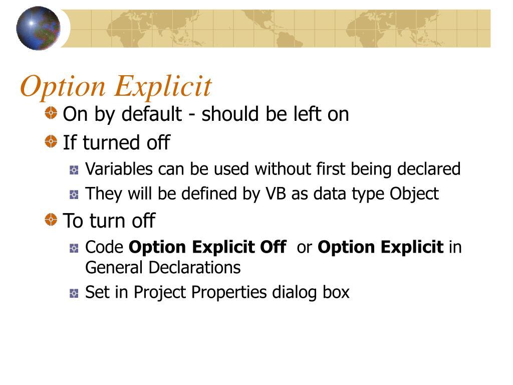 Option Explicit