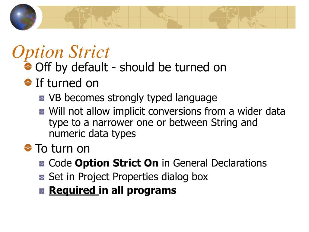 Option Strict