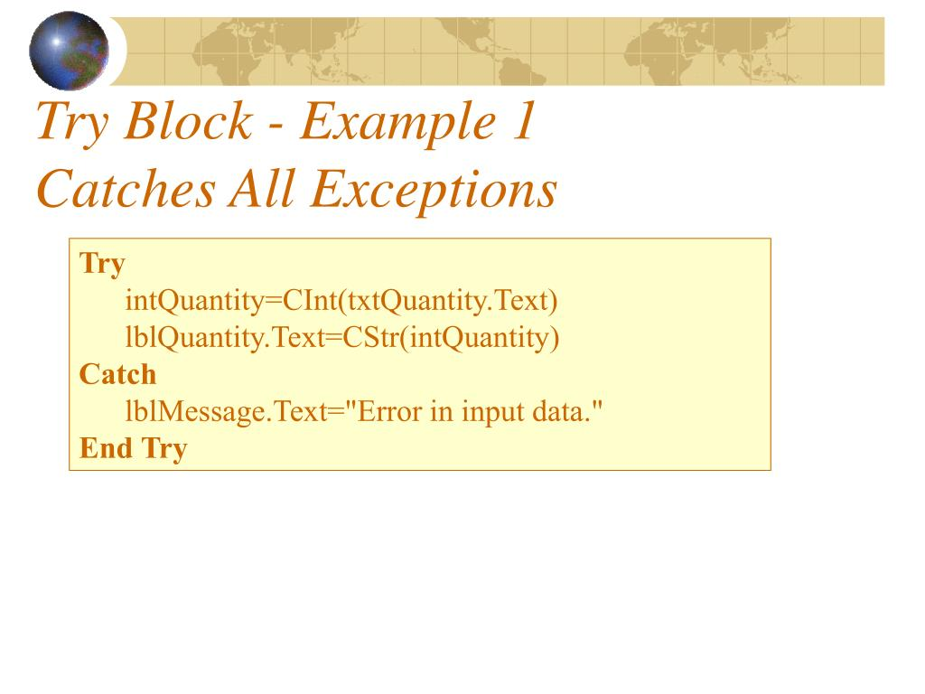 Try Block - Example 1