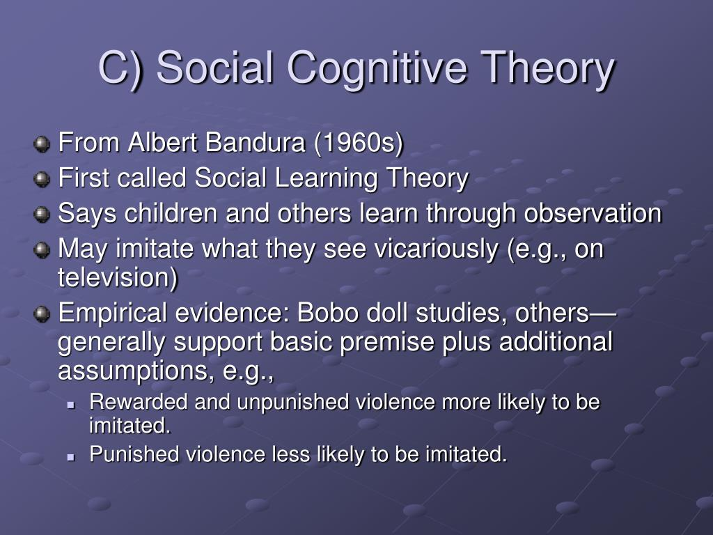 C) Social Cognitive Theory