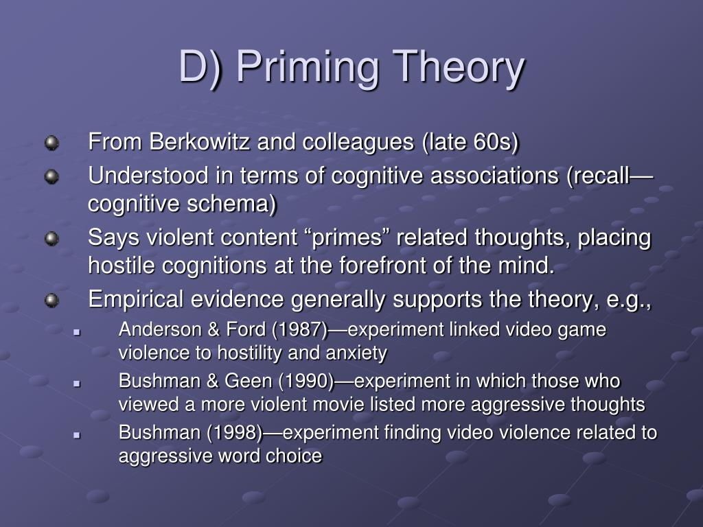 D) Priming Theory