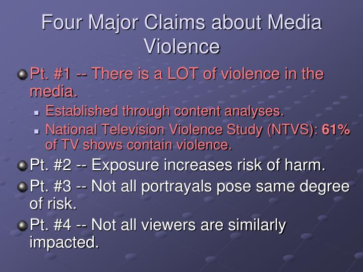 Four major claims about media violence3
