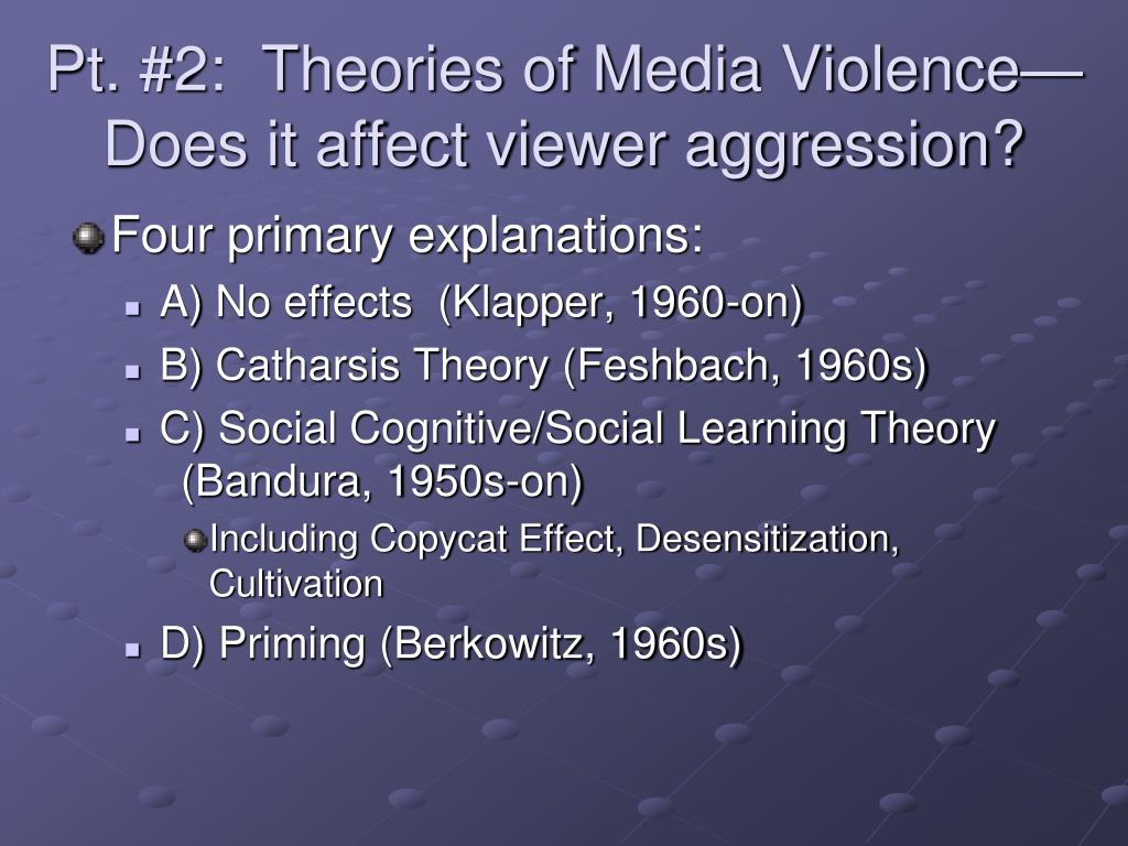 Pt. #2:  Theories of Media Violence—Does it affect viewer aggression?