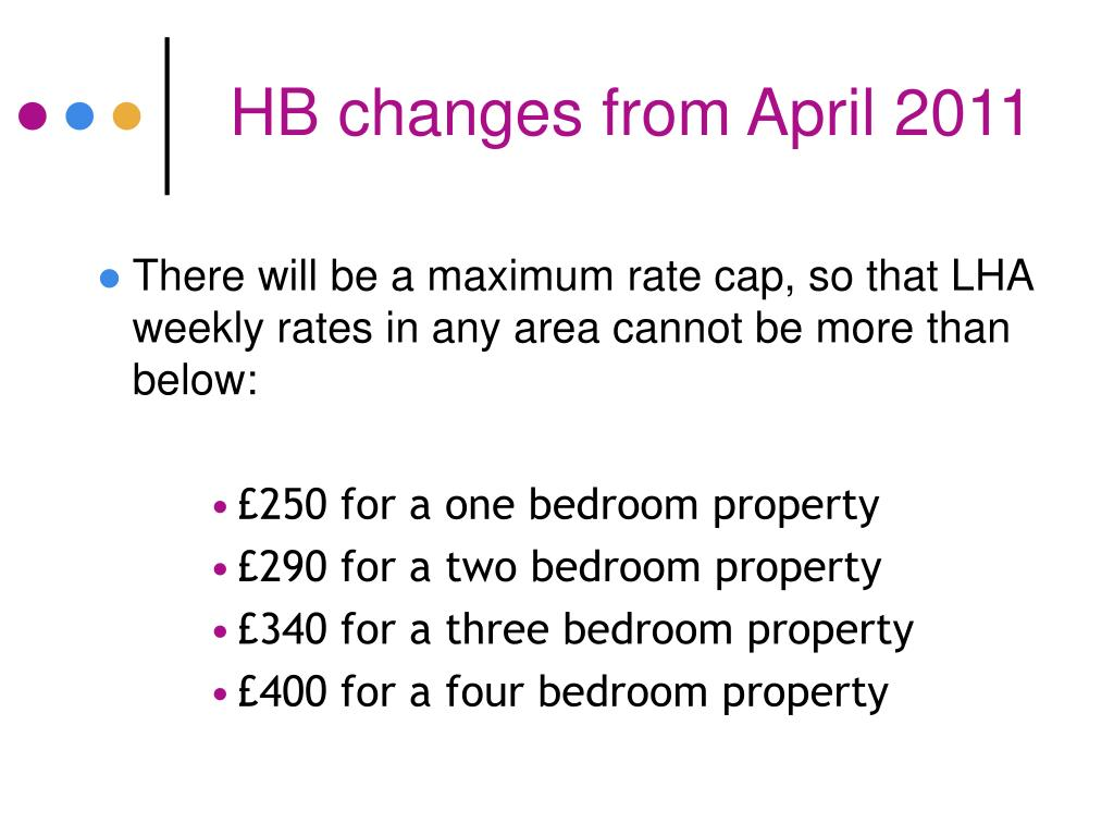 HB changes from April 2011