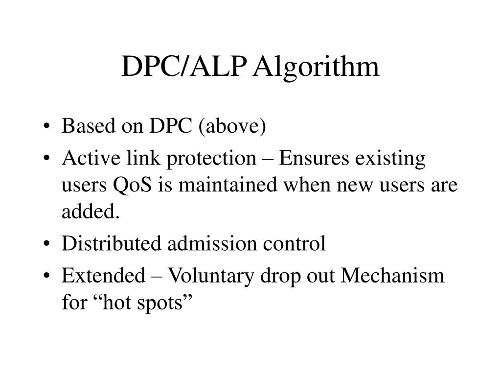 DPC/ALP Algorithm