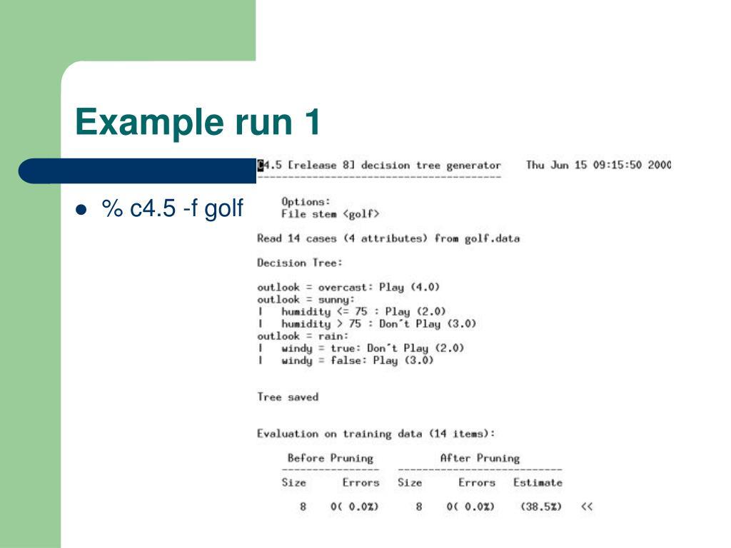 Example run 1