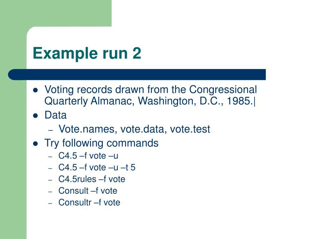 Example run 2