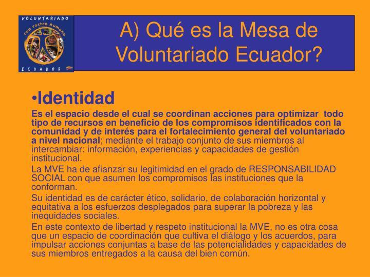 A qu es la mesa de voluntariado ecuador