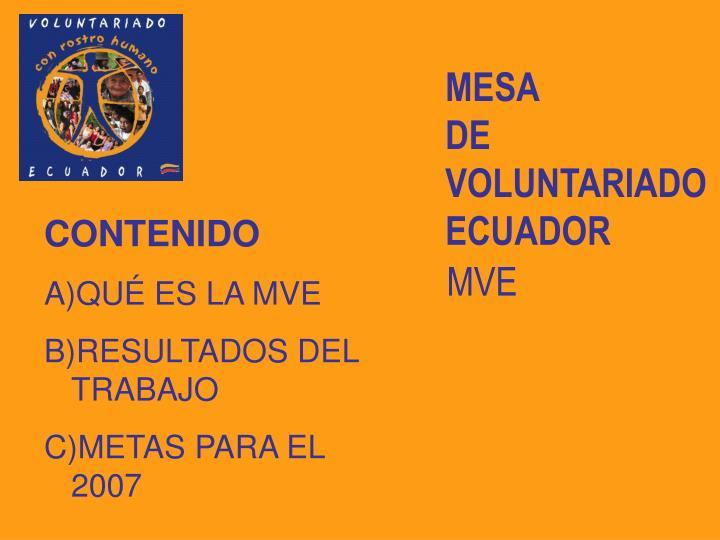 Mesa de voluntariado ecuador2