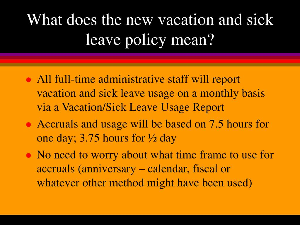 PPT - B-W's New Vacation and Sick Leave Reporting ...