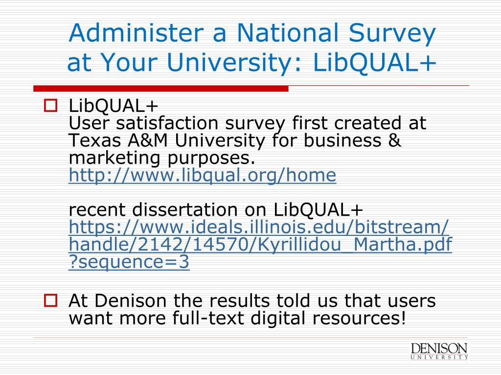 Administer a National Survey