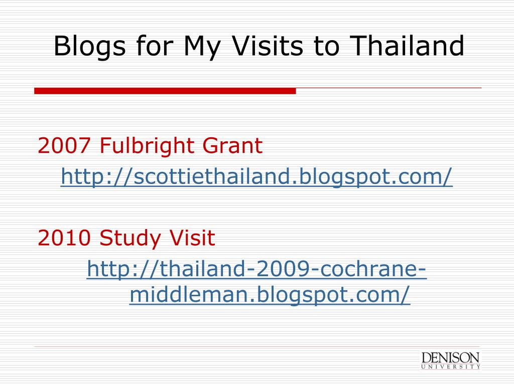 Blogs for My Visits to Thailand