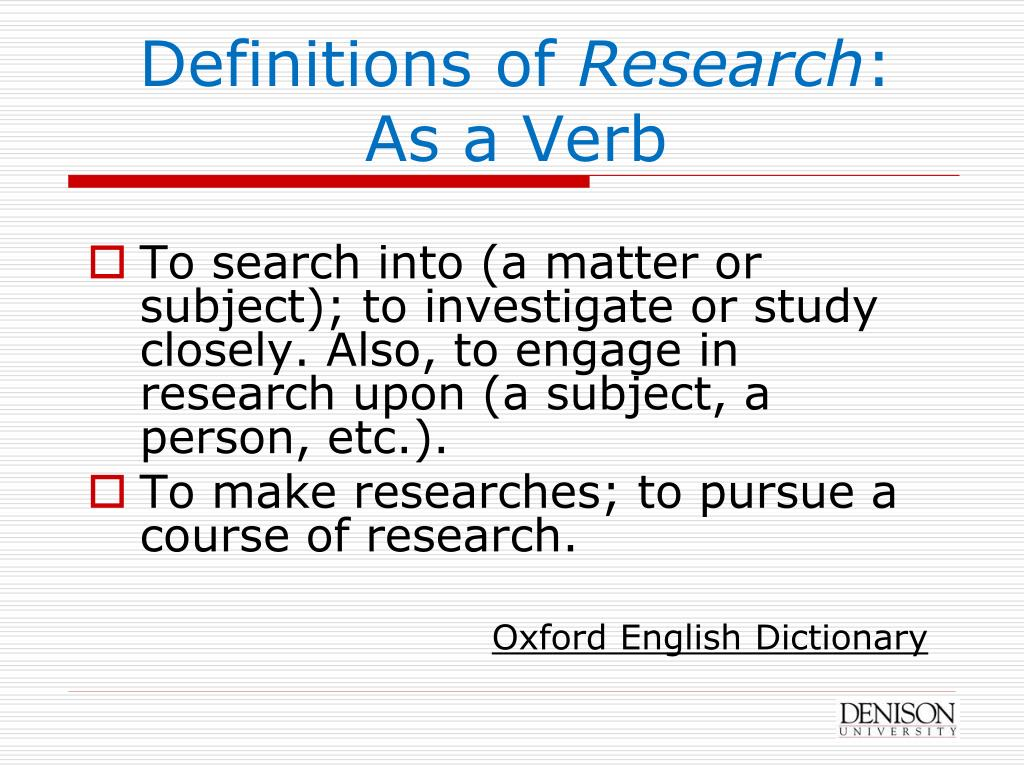 Definitions of
