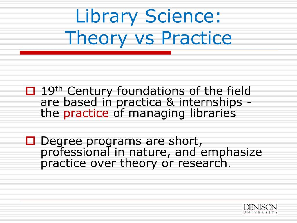 Library Science: