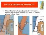 israel s unique vulnerability