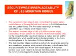 securitywise irreplaceability of j s mountain ridges