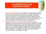 u s generals on j s mountain ridges