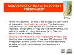 uniqueness of israel s security predicament2