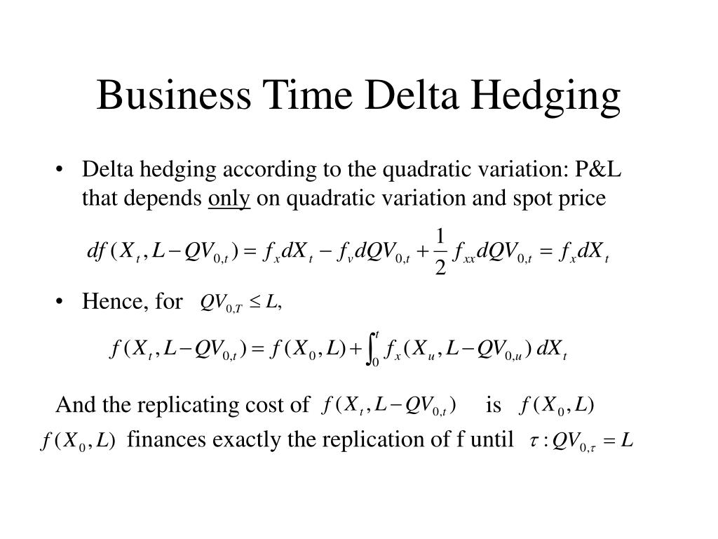 Business Time Delta Hedging