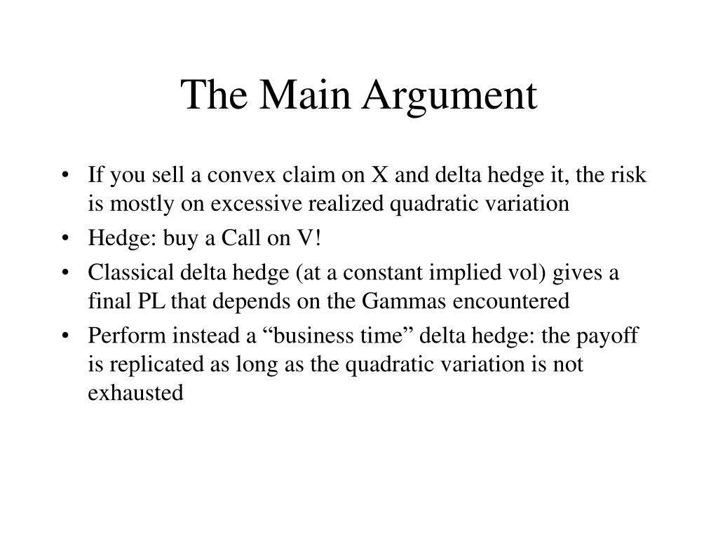 The Main Argument