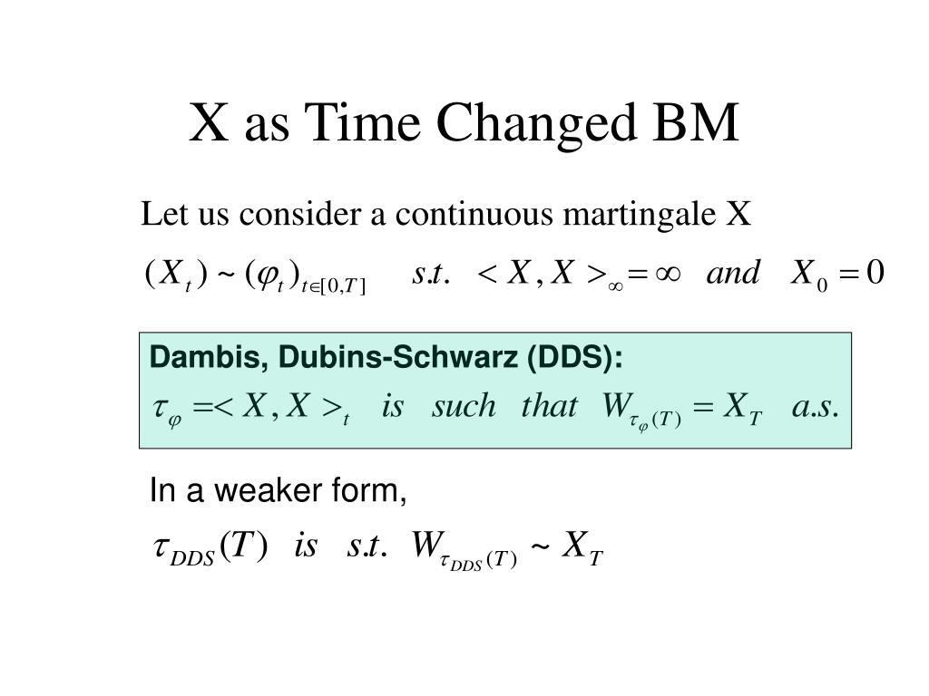 X as Time Changed BM