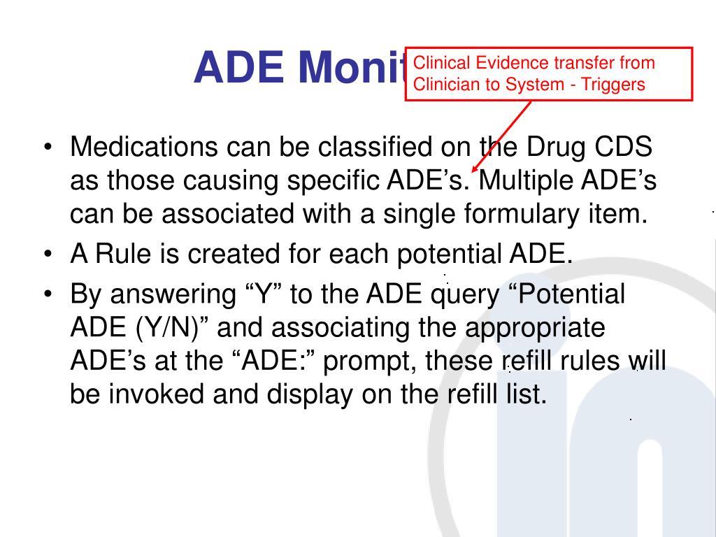 ADE Monitoring