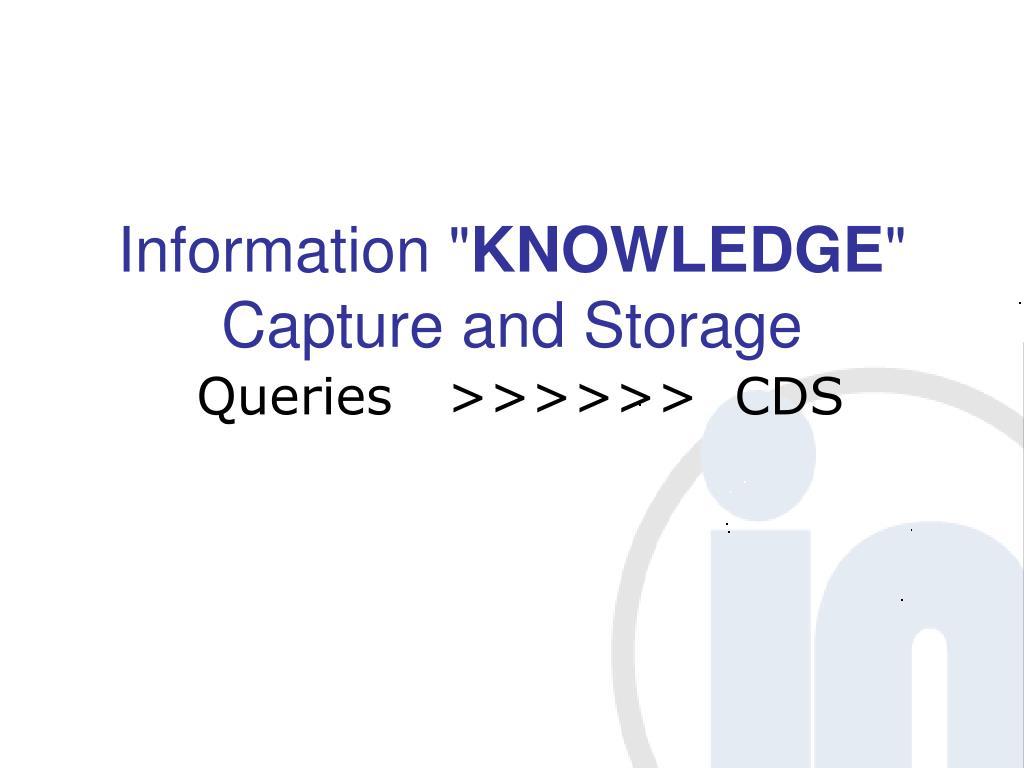 "Information """