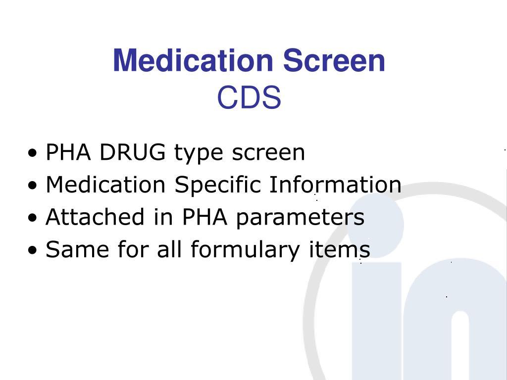 Medication Screen