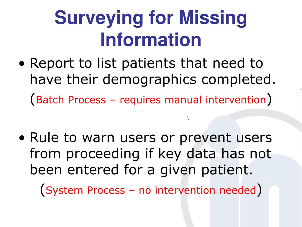Surveying for Missing Information