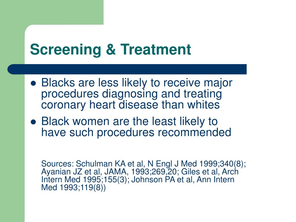 Screening & Treatment