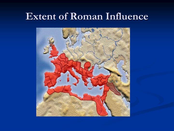 Extent of roman influence