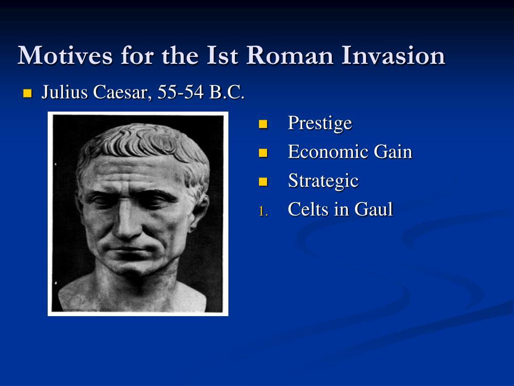 Julius Caesar, 55-54 B.C