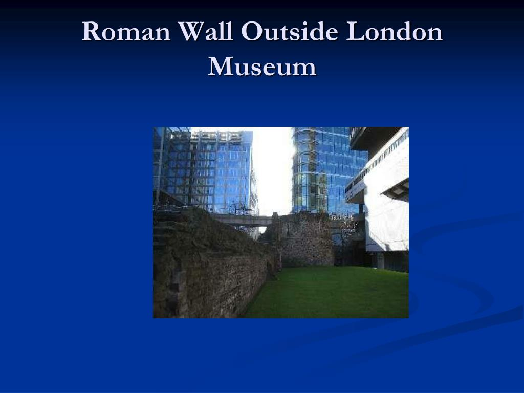 Roman Wall Outside London Museum