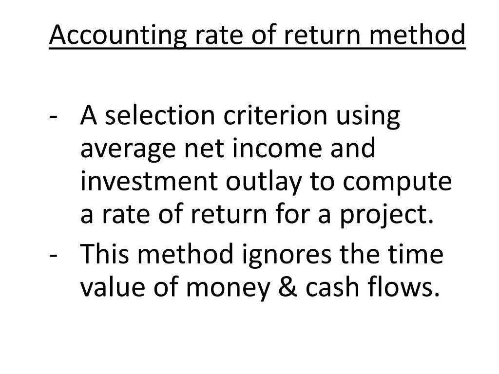 Accounting rate of return method