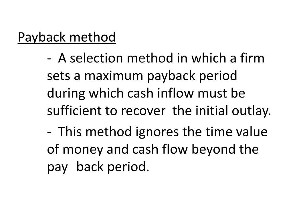 Payback method