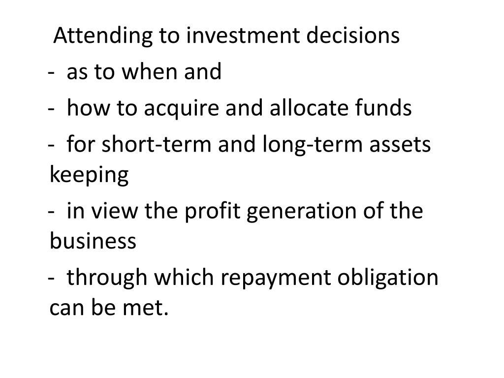 Attending to investment decisions