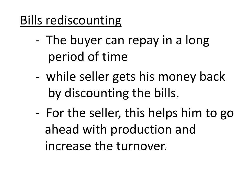 Bills rediscounting