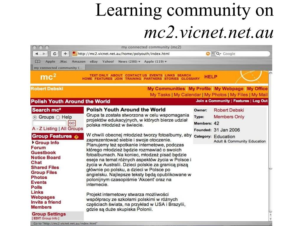 Learning community on