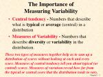 the importance of measuring variability