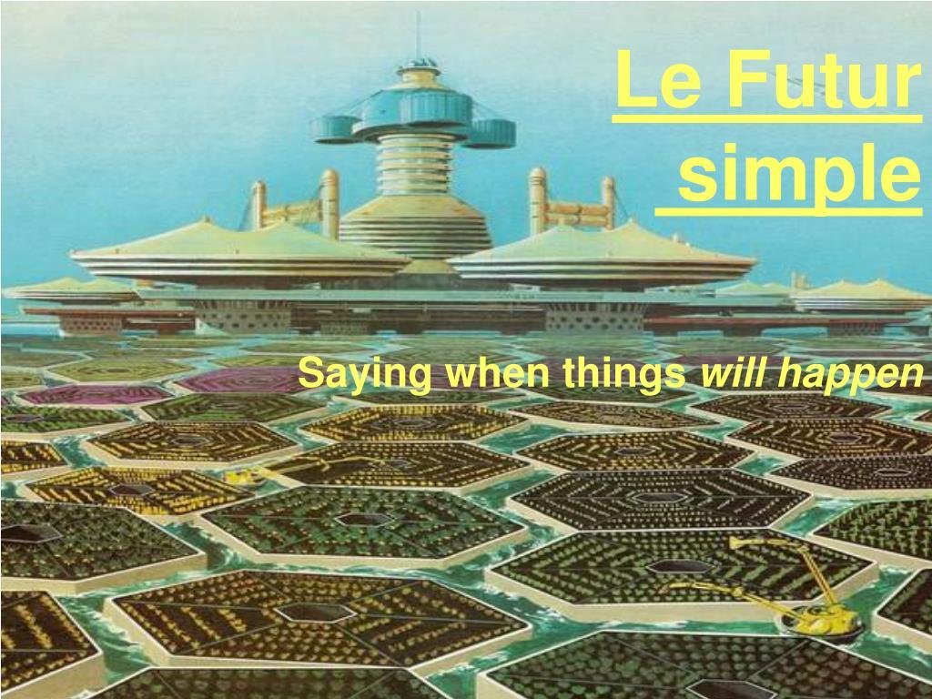 le futur simple l.