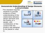 demonstrate understanding of design elements 1 10 a s 91053