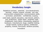 vocabulary jungle